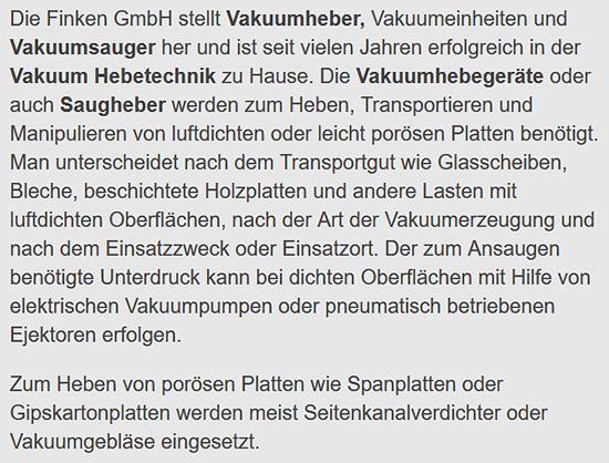 Akkubetriebener Vakuumheber für  Hannover