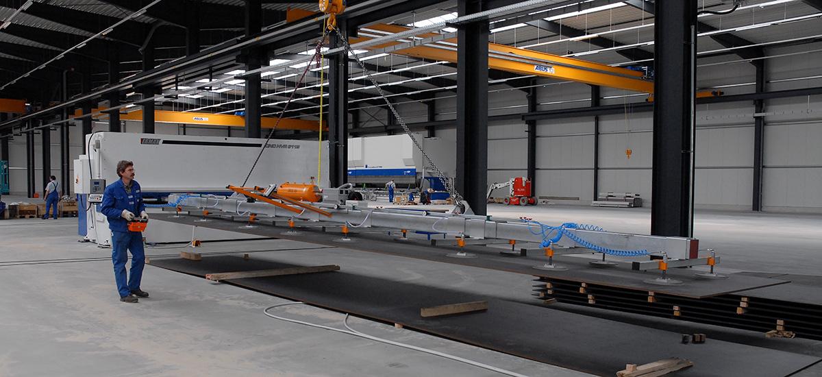 Vakuumheber Hannover: Finken GmbH » Saugheber & Leimbinder und Dielen