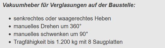 Vakuumheber drehbar aus  Stuttgart